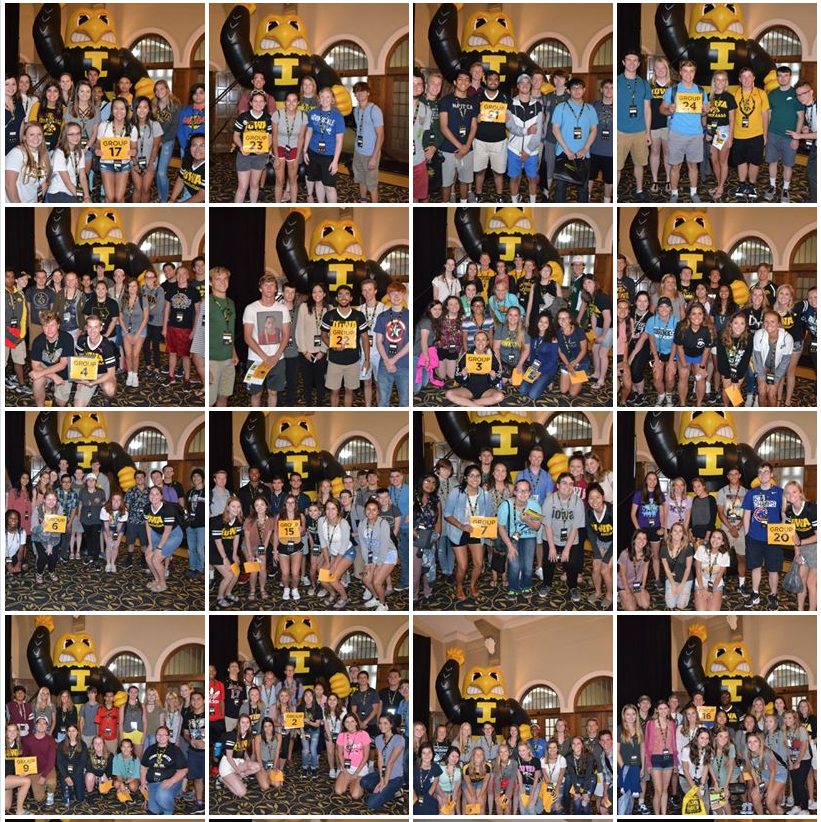 group photo collage